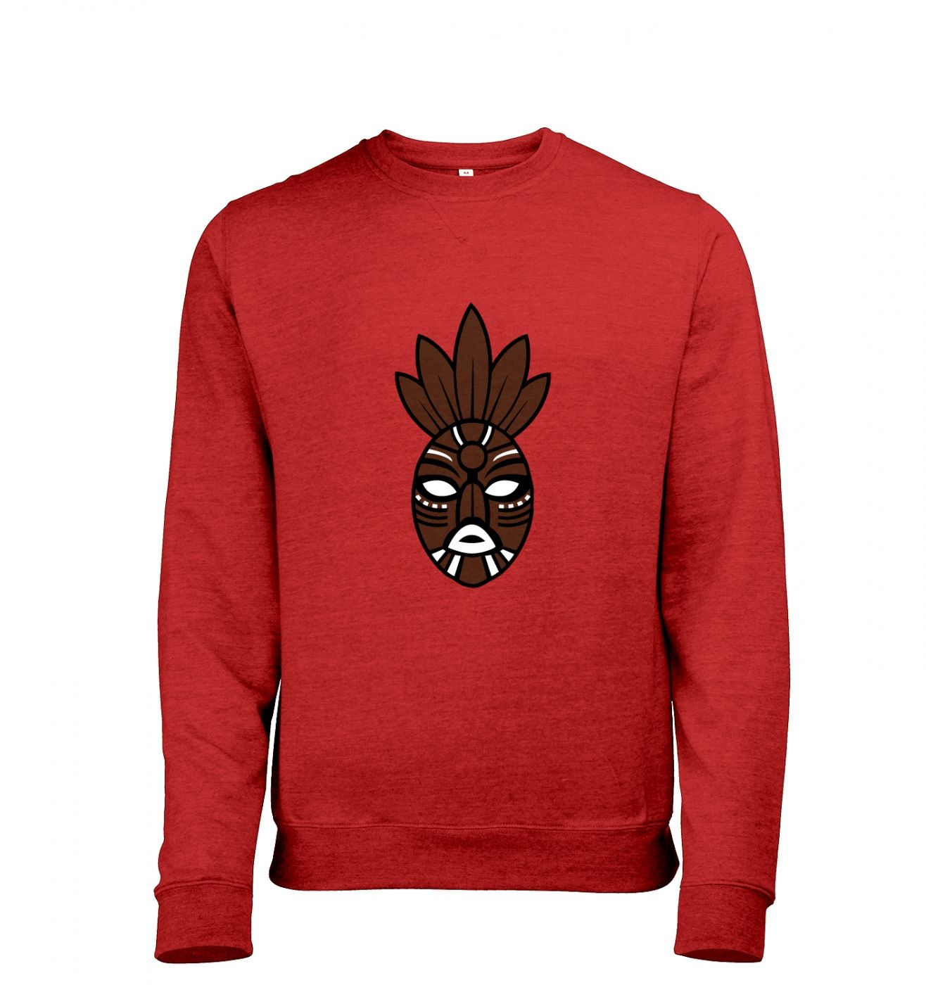 Brown Tribal Mask heather sweatshirt
