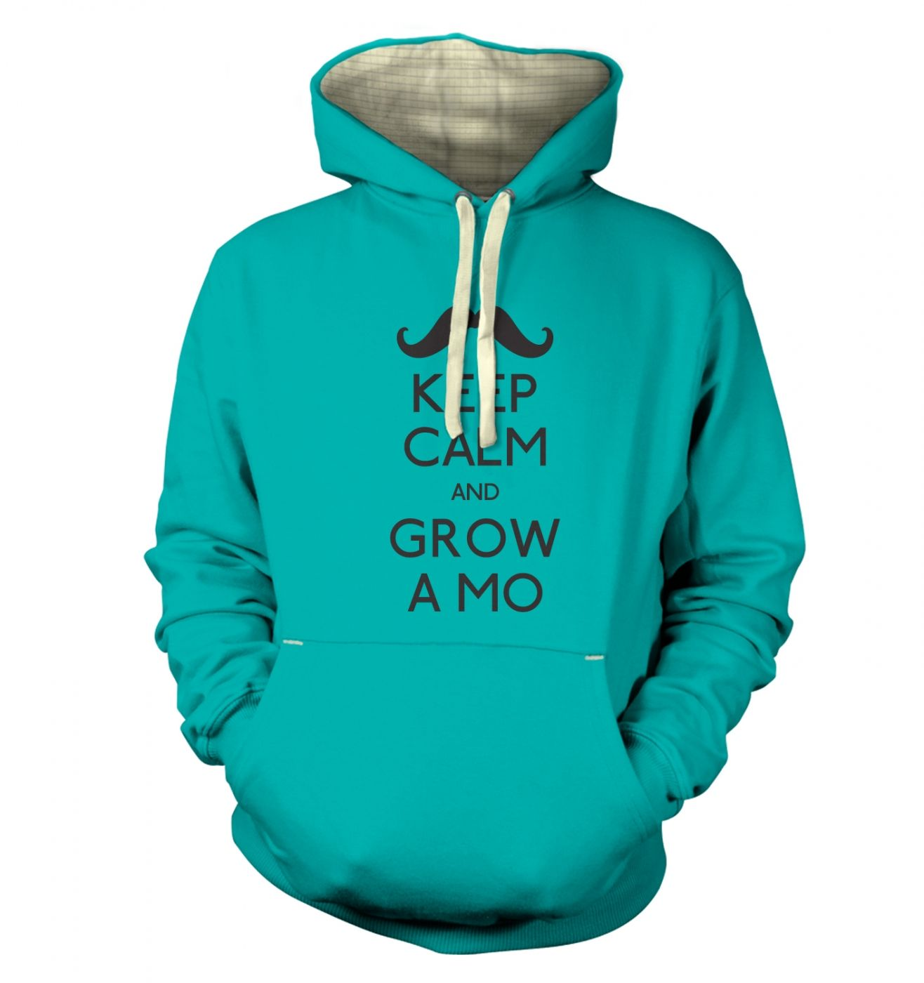 Keep Calm and Grow a Mo hoodie (premium)