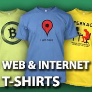 Web & Internet t-shirts