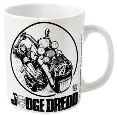 2000AD Judge Dredd Bike Logo mug - Official