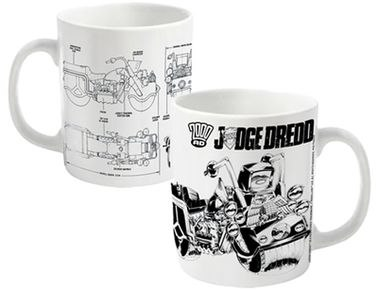 2000AD Judge Dredd Bike Schematics mug - Official