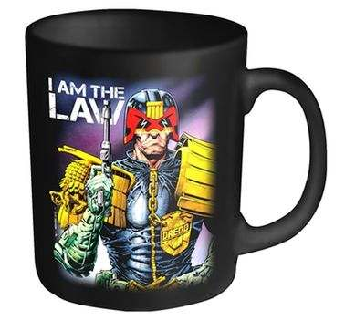 2000AD Judge Dredd I Am The Law mug - Official