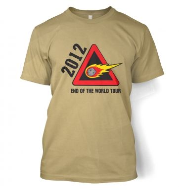 2012 End of The World Tour t-shirt