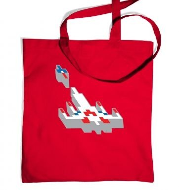 3D Retro Spaceship tote bag