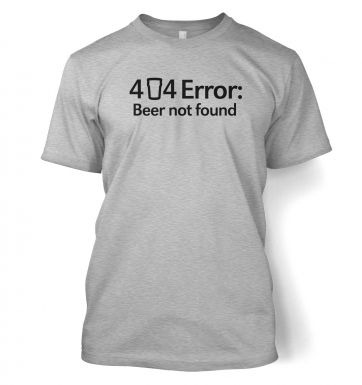 404 Error: Beer Not Found men's t-shirt