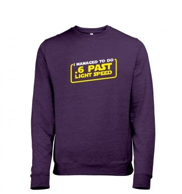 .6 Past Light Speed heather sweatshirt