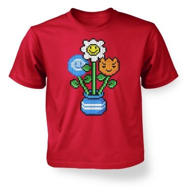 8-Bit Bouquet kids' t-shirt