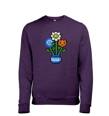 8-Bit Bouquet men's heather sweatshirt