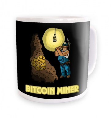 Mining In The Bitcoin Mine mug