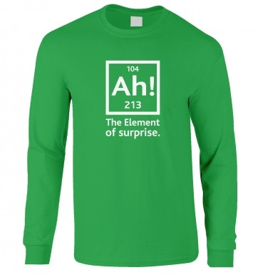 Ah! The Element Of Surprise long-sleeved t-shirt