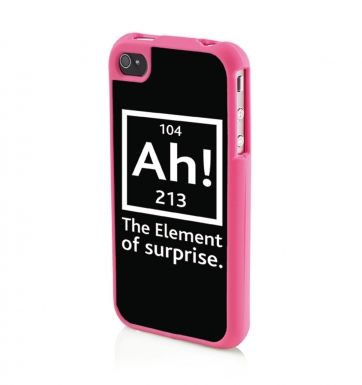 Ah! The Element Of Surprise BLACK Apple iPhone4/4s Phone case