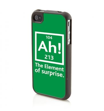 Ah! The Element Of Surprise (GREEN) Apple iPhone4/4s Phone case