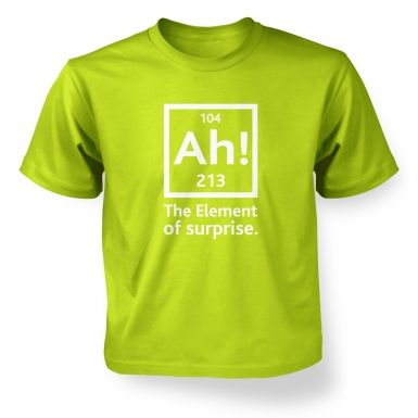 Ah! The Element Of Surprise kids' t-shirt
