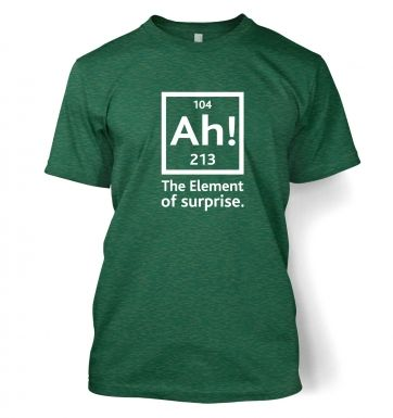 Ah! The Element Of Surprise men's t-shirt