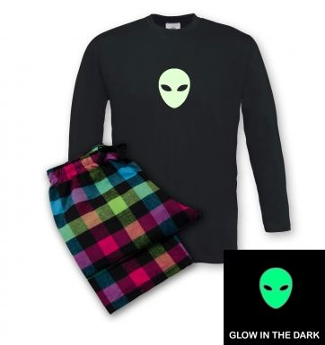 Alien Head (glow in the dark) pyjamas (men's)