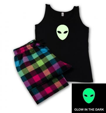 Alien Head (glow in the dark) pyjamas (women's)