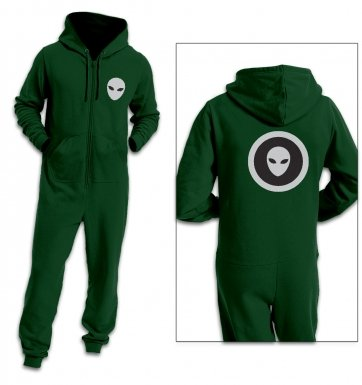 Alien Head in a circle adult premium warm onesie