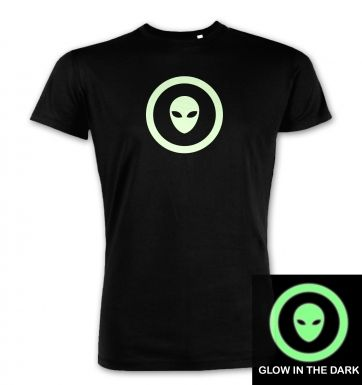 Alien Head In Circle Glow In The Dark premium t-shirt