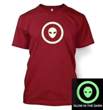 Alien Head In Circle (glow in the dark) t-shirt