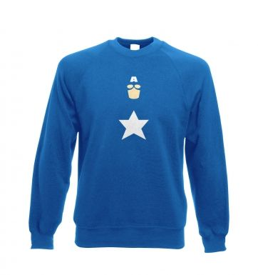 All American Hero Adult Adult Crewneck Sweatshirt Captain America