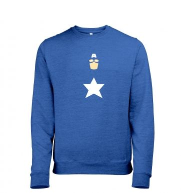All American Hero Adult Mens Heather Sweatshirt Captain America