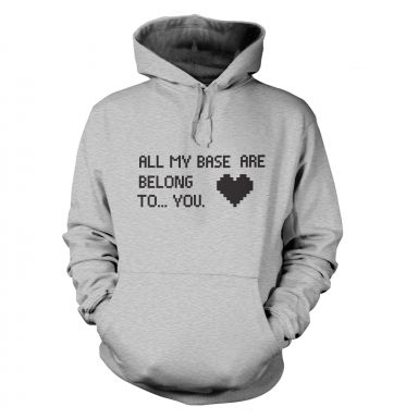 Heart All My Base Are Belong To You hoodie