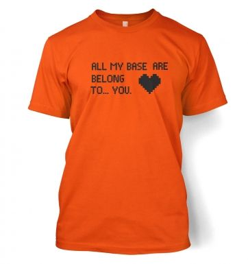 Heart All My Base Are Belong To You t-shirt
