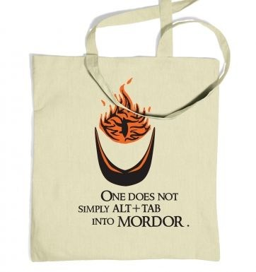 Alt+tab into Mordor tote bag