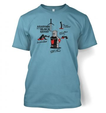 Anatomy of a Black Knight Adult t shirt