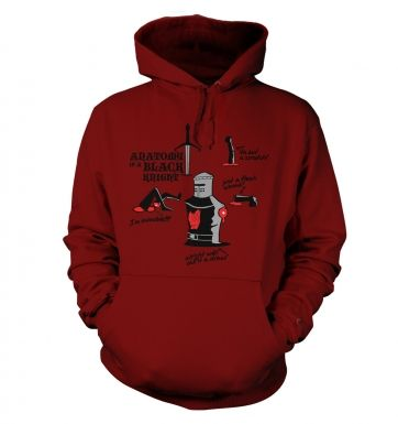 Anatomy of a Black Knight Adult Hoodie