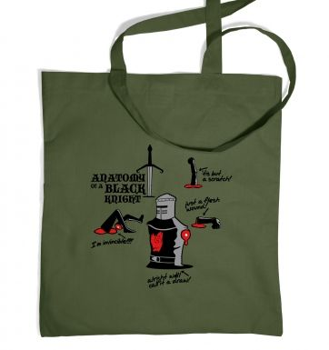 Anatomy of a Black Knight tote bag