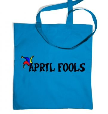 April Fools tote bag