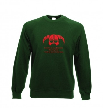 Arrow In The Knee (red detail) sweatshirt