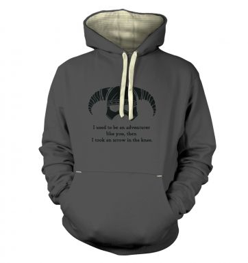 Arrow In The Knee (black detail)  hoodie (premium)
