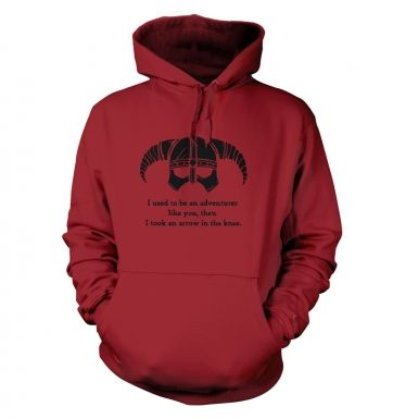 Arrow In The Knee (black detail) hoodie