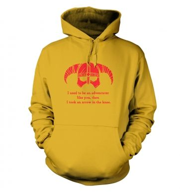 Arrow In The Knee (red detail) hoodie