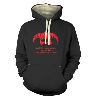 Arrow In The Knee (red detail)  hoodie (premium)