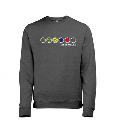 Assembled In A Row men's heather sweatshirt