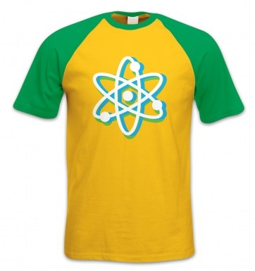 Atom short-sleeved baseball t-shirt