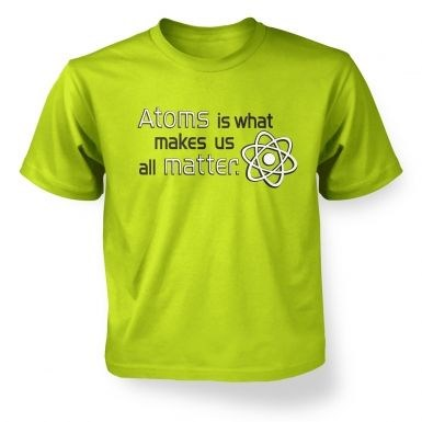Atoms matter children's t-shirt