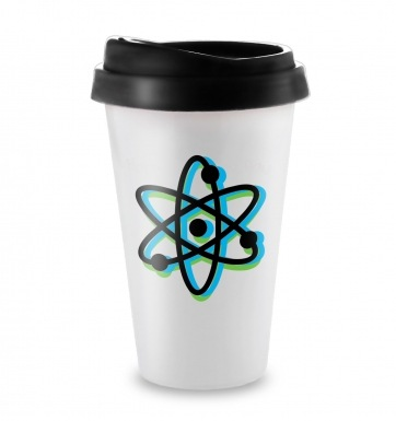 Atom travel latte mug