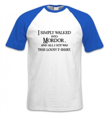 A T-shirt From Mordor short-sleeved baseball t-shirt