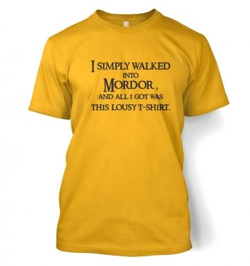 A t-shirt from Mordor - adult t-shirt