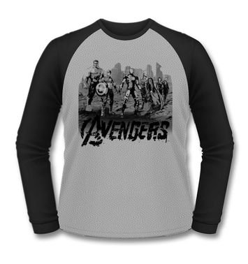 Avengers long-sleeved baseball t-shirt
