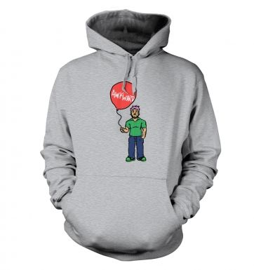 Awkward Balloon Guy adults' hoodie 