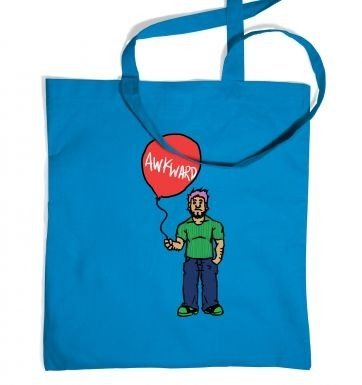 Awkward Balloon Guy tote bag