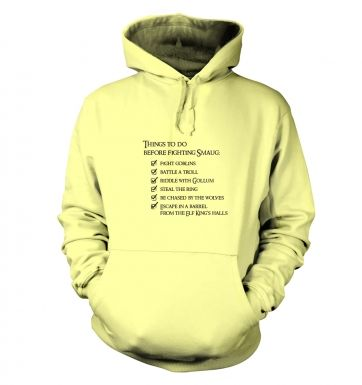 Before Smaug to-do list hoodie