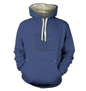 Before Smaug to-do list premium hoodie