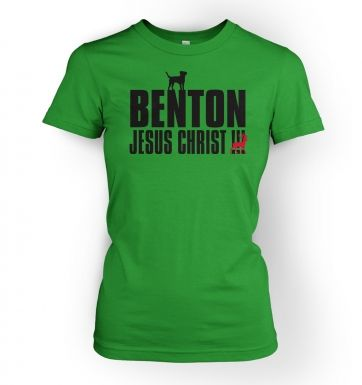 Women's Benton Dog Chasing Deer t-shirt