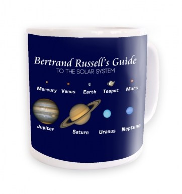 Bertrand Russell's Guide - navy background mug